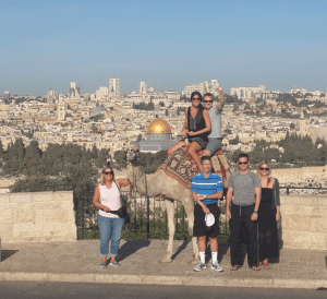 Kojak the camel on Mt. of Olives is a must