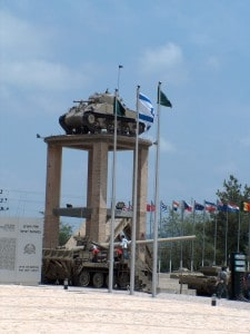 First tank of Israel 1948 at Latrun British police station