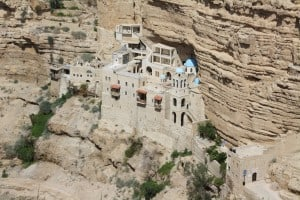 St. George monastery  at the northern bank of Wadi Qelt