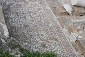 Mosaic floor which was damaged by vandals a day after this picture was taken