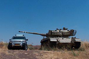 Israeli tank practice, golan heights, private tour Israel